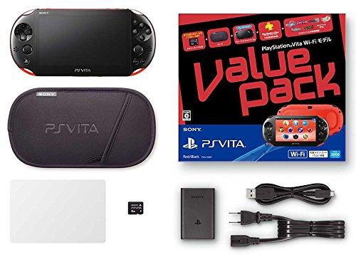 Black Sony Computer PlayStation Vita Value Pack Wi-Fi model Red / Black