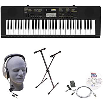 Casio Inc. CTK2400 EPA 61-Key Premium Keyboard Package with Samson HP30 Headphones, Stand, Power Supply, USB Cable and eMedia Software