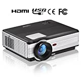 LCD Video HD Projector 3500 Lumen Home Cinema Theater Outdoor Movie Games Projectors Support 1080P HDMI for Blu-ray DVD Player Apple-TV Xbox- with Built-in Speaker, Keystone