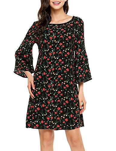 3/4 sleeve black dress target - 1