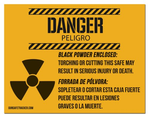 Black Powder / Explosion Warning Magnet for Gun Safe ()