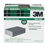 3M Sanding Sponge, Medium Grit, 12-Pack