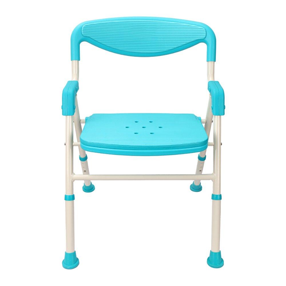 Shower Chair Aluminum Folding Chair Bathroom Anti-slip Bathing Chair ...