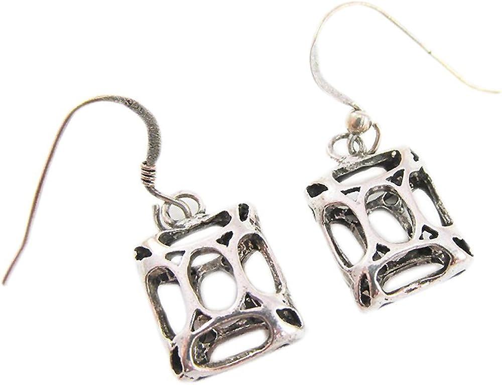 Pendientes de moda para las mujeres Pendiente de filigrana de plata esterlina 925 colgantes pendientes