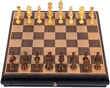 ZCY Colección de ajedrez de Madera Ajedrez Internacional portátil de Viaje de Mesa Juegos de Juguete de Regalo Juego de ajedrez clásico Juego Familiar: Amazon.es: Hogar