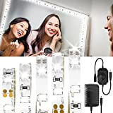 (US) LONGKO LED Vanity Mirror Light Kit, 13ft 240 LED Dimmable Strip Light with Power Supply for Makeup Dressing Table