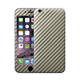 Cruzerlite Carbon Fiber Skin for the Apple iPhone 6-Retail Packaging-Titanium (Full Kit)