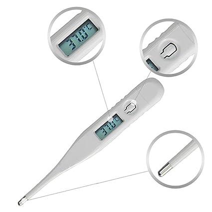 STRIR Termómetro Clínico Digital, Termómetro Oral, Rectal y Axilar, con Lectura Pantalla,