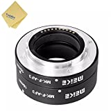Meike MK-F-AF3 Auto-Focus Metal Extension Tube Set 10mm&16mm with Venidice Cloth for Fujifilm XPro2 XT1 XA2 XE2 XE2s X70 XE1 X30 X70 XM1 XA1 XPro1 Micro DSLR Camera + Venidice Cloth
