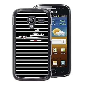 A-type Arte & diseño plástico duro Fundas Cover Cubre Hard Case Cover para Samsung Galaxy Ace 2 (Nails Black White Lady)