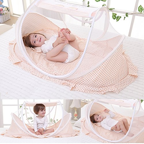 For Sale! Baby Travel Bed Outdoor Pop-up Mosquito Net Newborn Portable Folding Insect Tent Infant Fo...