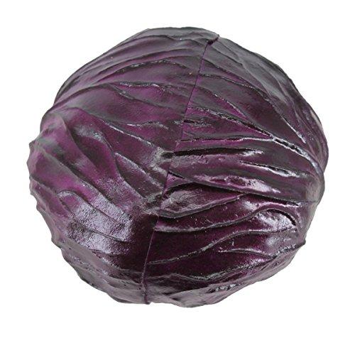 Lorigun PU Fake Red Cabbage Simulation Bubble Fruits & Vegetables Emotion Arrangement Scenes Props Simulation X 1Pcs Cabbage by Lorigun (Image #3)
