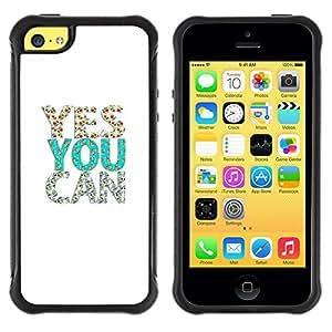 Suave TPU GEL Carcasa Funda Silicona Blando Estuche Caso de protección (para) Apple Iphone 5C / CECELL Phone case / / President Glitter Teal White Silver /