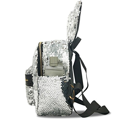 Mini Rabbit Cute Shoulder Shining Girls Sequins Bags Backpacks Everpert Ears Women SaqR57w