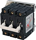 Blue Sea Systems C-Series White Toggle Triple Pole 300A Circuit Breaker