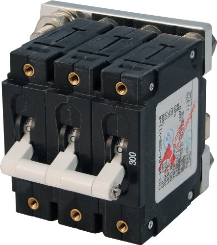 eries White Toggle Triple Pole 300A Circuit Breaker ()