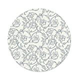 best french country outdoor kitchen iPrint Polyester Round Tablecloth,Floral,Flower Orchids Bohemian Style Vintage Petals Vines Pattern French Country Style,Blue White,Dining Room Kitchen Picnic Table Cloth Cover,for Outdoor Indoor