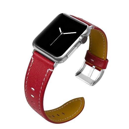 BZLine para Apple Watch Pulsera 38 mm/42 mm, Mode Piel Wrist Strap ...