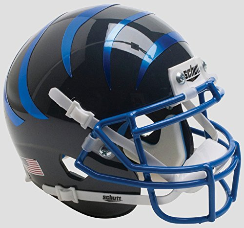 Schutt NCAA Memphis Tigers Mini Authentic XP Football Helmet, Blue Stripes Alt. 7, Mini by Schutt