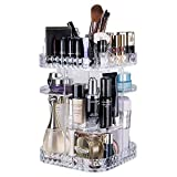 IFM TOOLS Makeup Organizer, 360-Degree Rotating Adjustable Cosmetics Lipsticks Perfumes Multi-Function Storage Tray Box