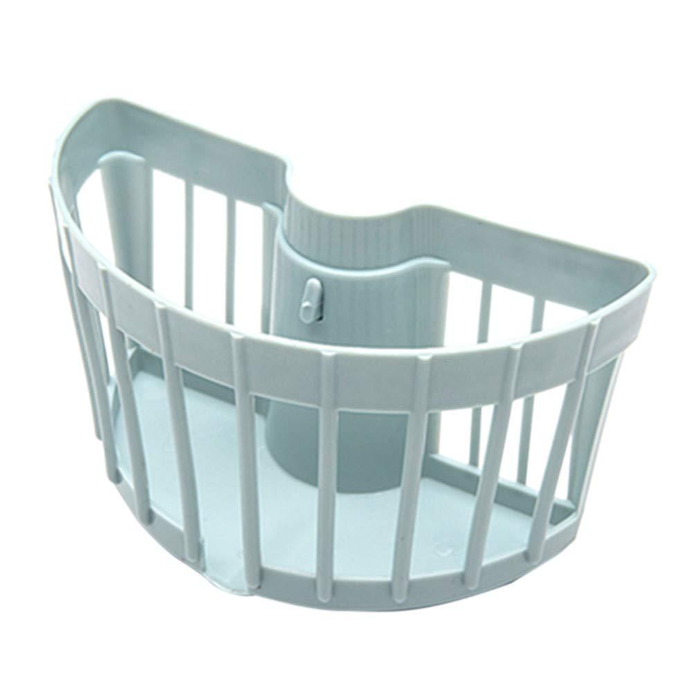 ♚ RENDODON ♚ Bathroom Kitchen Storage Drain Rack, Kitchen Storage Tool, Sink Holder, Portable Home Kitchen Hanging Bag Basket Bath Storage Tools Sink Holder (Blue)
