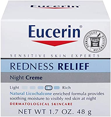 Eucerin Redness Relief Soothing Night Creme 1.70 oz (Pack of 5)
