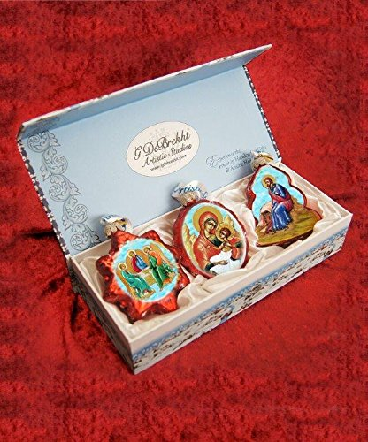 G. Debrekht Nativity Glass Ornaments (Set of 3) for sale  Delivered anywhere in USA