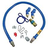 Dormont 1675BPQ2SR48 Gas Hose Kit 3/4 Swivel Disconnect 48''New 41195 1675Bpq2Sr48