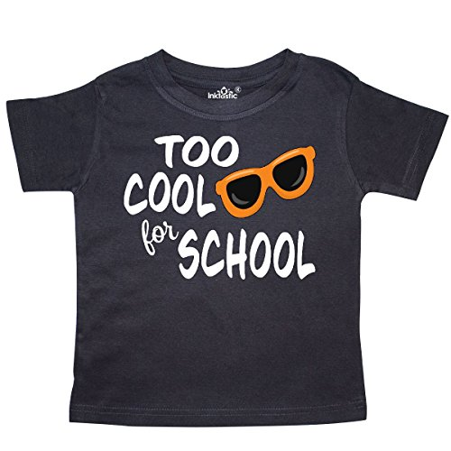 inktastic Cool For School Toddler T-Shirt 3T Black (School Toddler Tee)