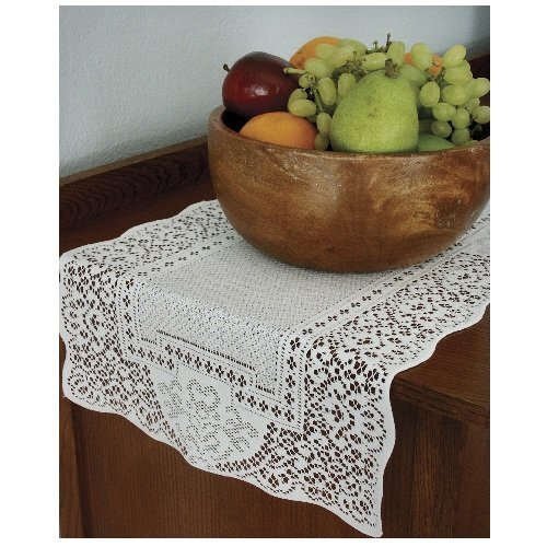 Heritage Lace Canterbury Classic 14-Inch by 72-Inch Runner, White