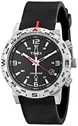 Timex Men's T2P285 Intelligent Quartz Adventure Series Stainless Steel Watch with Black Band