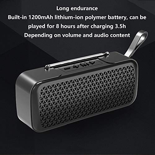 Household appliances Bluetooth Audio FM Radio, Mini Wireless Outdoor Portable, Support TF Extension Support U Disk Expansion AUX Input AOYS by Household appliances (Image #2)