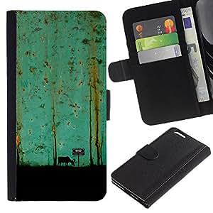 KingStore / Leather Etui en cuir / Apple Iphone 6 PLUS 5.5 / Trullo Pintura Arte Moose