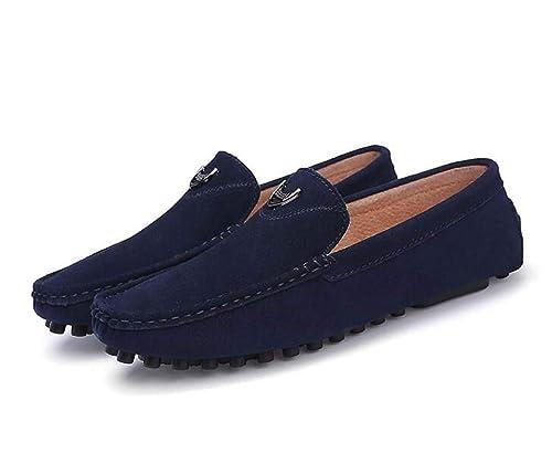 Mocasín sin Cordones de Microfibra para Hombre con Adorno de Cadena, Mocasines cómodos para Conducir, Mocasines: Amazon.es: Zapatos y complementos