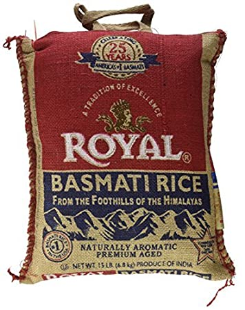 amazon com royal basmati rice 15 pound bag grocery gourmet food