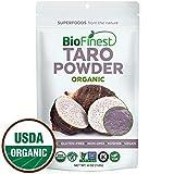 Biofinest Taro Powder -100% Pure Antioxidants Superfood - USDA Certified Organic Kosher Vegan Raw Non-GMO - Boost Digestion Weight Loss Detox - for Smoothie Bubble Tea Beverage (4 oz Resealable Bag)
