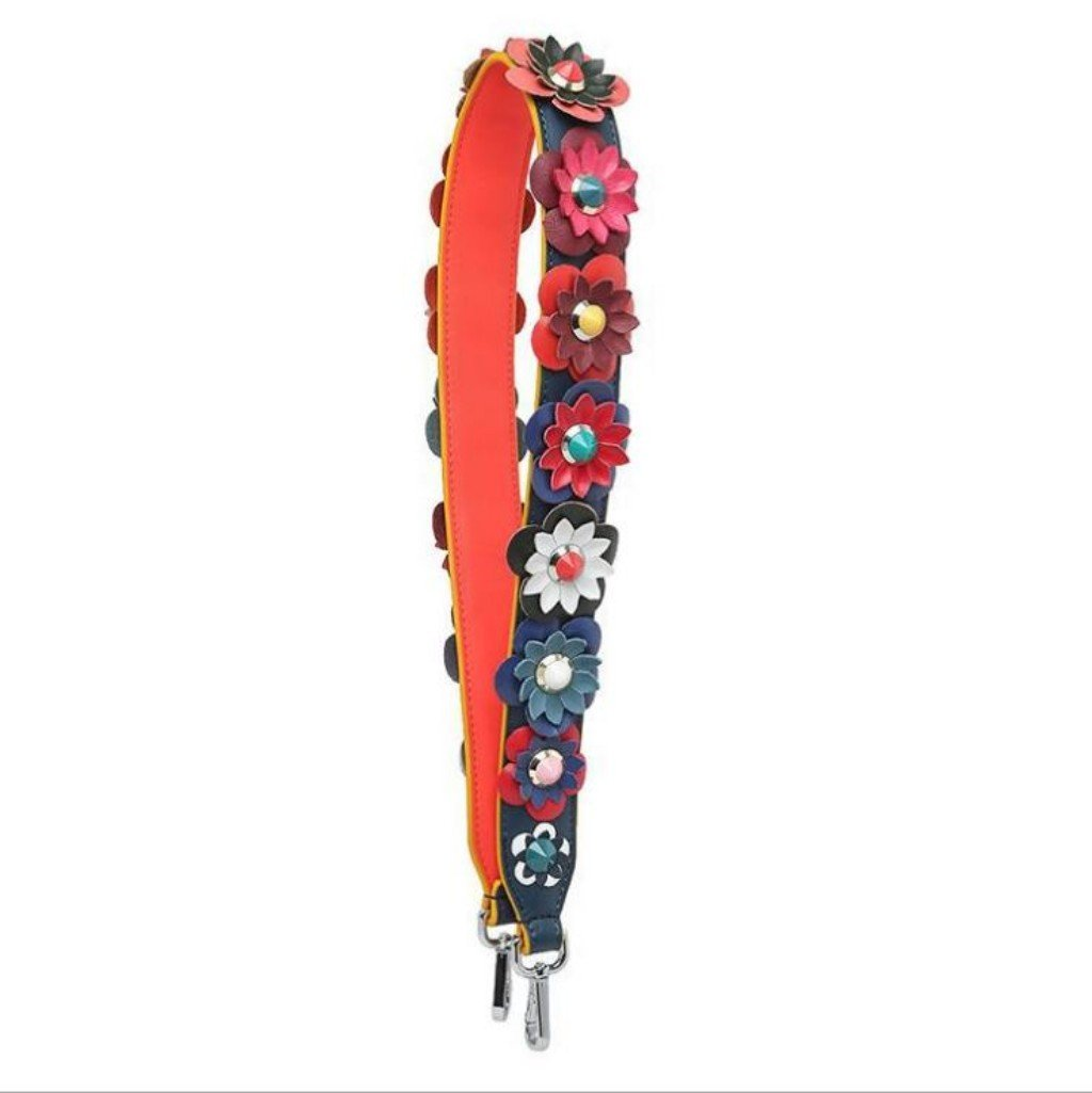 Leather Flower Replacement Interchangeable Shoulder Strap with Swivel Hook for Handbags Purse Bags