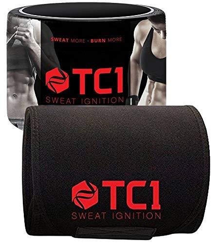 TC1 Waist Belt Bundle with TC1 Advanced Topical Sweat Workout Enhancer with Capsaicin by TC1