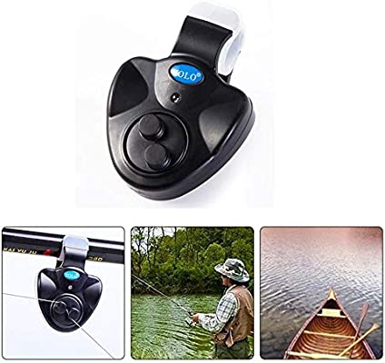 Fishing Bite Alarm with Sound LED Lights Indicator for Fishing Pole Rods Line