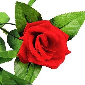Artificial Silk Rose Flower Ivy Vine Leaf Garland Wedding Party Garlands 113