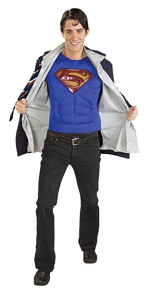 20a35942c5 Amazon.com  DC Comics Clark Kent Superman Adult Costume  Clothing