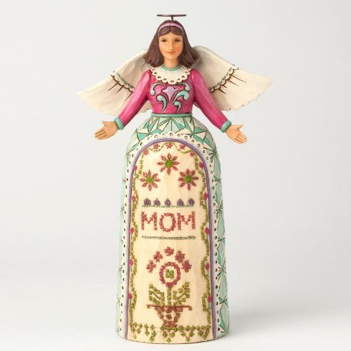 Jim Shore Heartwood Creek My Mother My Angel with Stitching Mothers Day Figurine