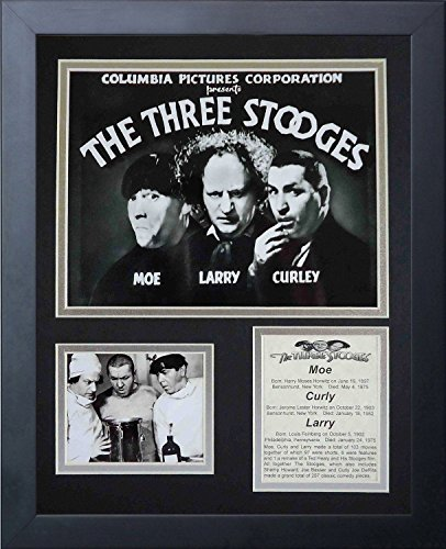 11x14 FRAMED THREE STOOGES MOVIE 8X10 PHOTO MOE CURLEY LARRY COLLAGE from Baseball Card Outlet & Sports Memorabilia