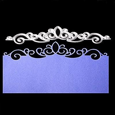 Crown Lace Flower Metal Cutting Dies Invitation Scrapbooking Craft Stencil DIY