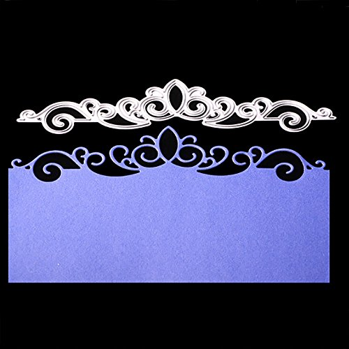 Hongxin Crown Lace Metal Cutting Dies Embossing Die Cuts Scrapbooking Dies Metal Cut For Card Album Decoration Flower Crown For Card New Year Present DIY Wedding Valentine's Greeting Card
