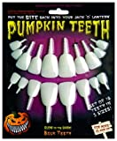 Halloween Pumpkin Carving Kit - Pumpkin Teeth for your Jack O' Lantern - Set of 18 Glow in the Dark Buck Teeth