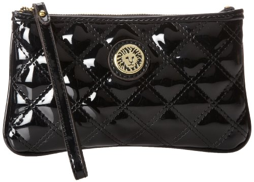 Anne Klein Present Time Medium Wristlet,Black,One Size, Bags Central