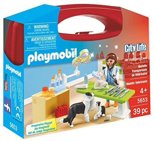 PLAYMOBIL Vet Visit Carry Case (Countries With Best Medical Care)