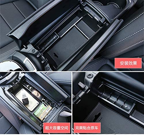 HOTRIMWORLD Interior Center Console Armrest Storage Box Holder for Mercedes-Benz E Class W213 S213 C238 2016-2019