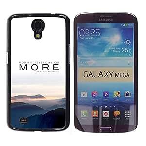 TECHCASE**Cubierta de la caja de protección la piel dura para el ** Samsung Galaxy Mega 6.3 I9200 SGH-i527 ** More Nature Sunset Fog Grey Mountains